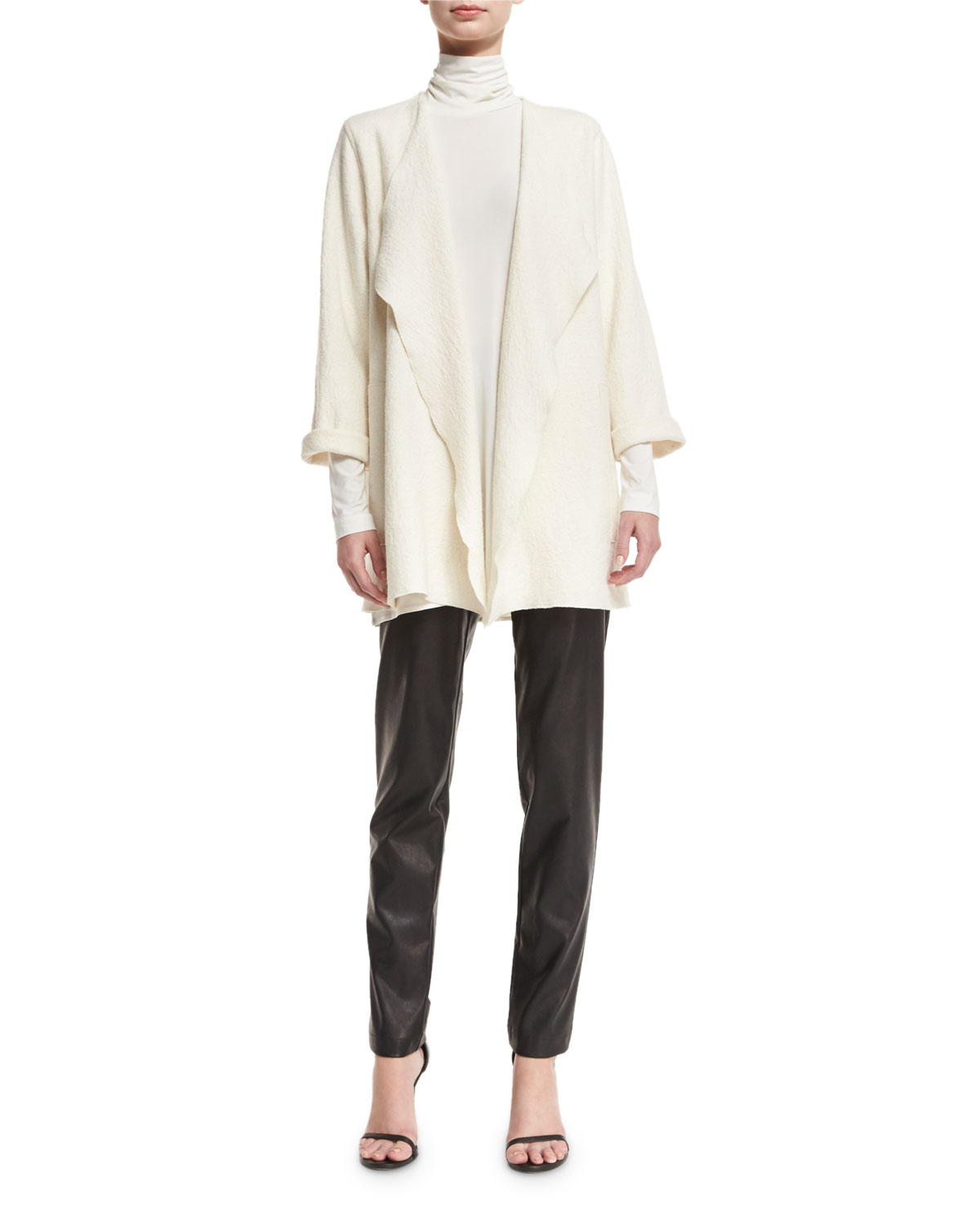 Faux-Leather Skinny Pants, Petite