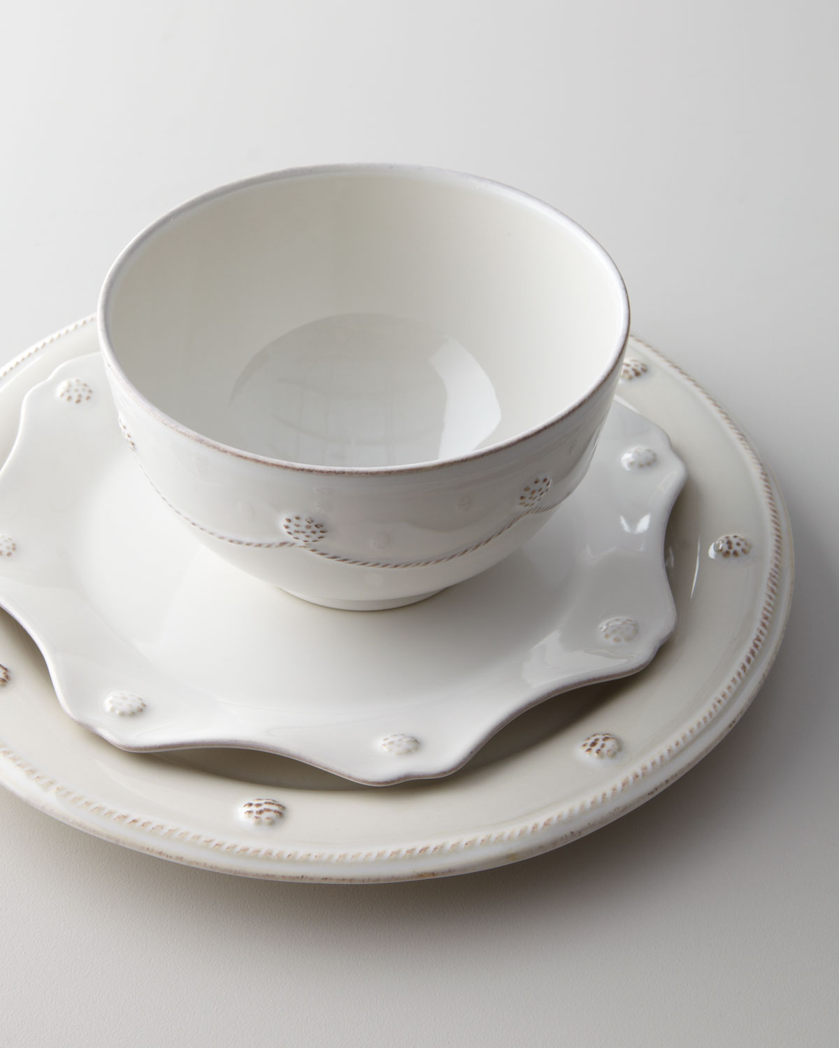 Berry u0026 Thread Whitewash Dinner Plate : dinner plate storage containers - Pezcame.Com