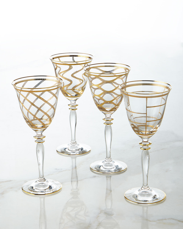 Elegant Swirl Wine Glass