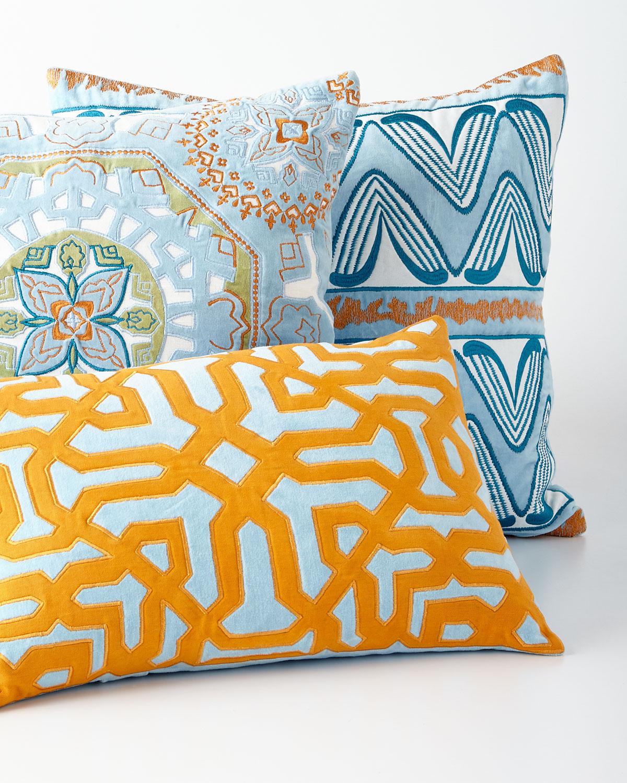 Ikat Light Blue Pillow