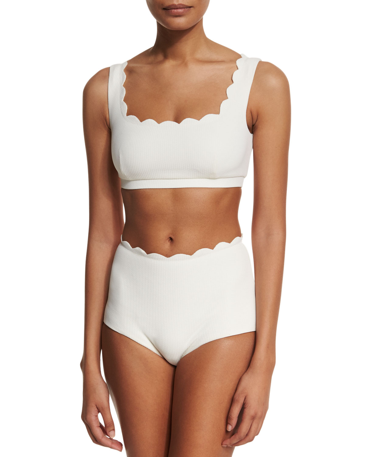Palm Springs Scalloped Swim Top