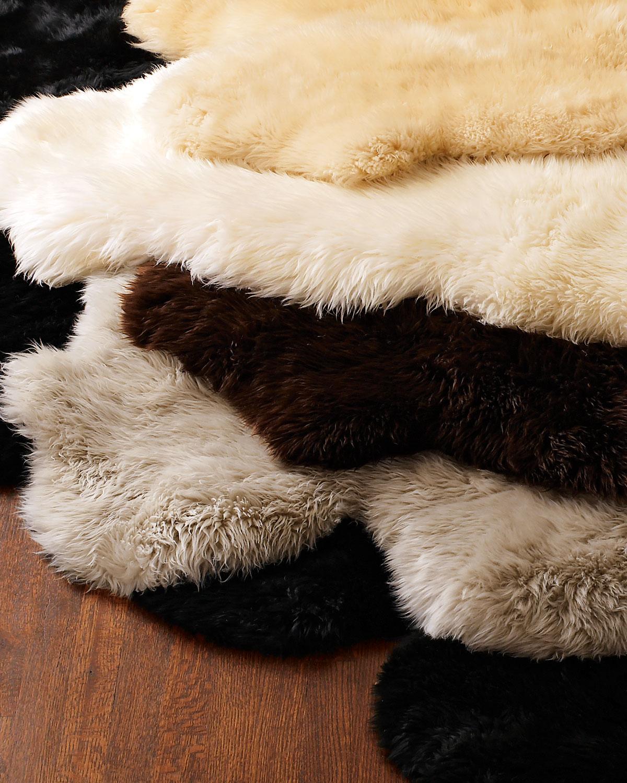 "Sheepskin Rug, 5'4"" x 6'"
