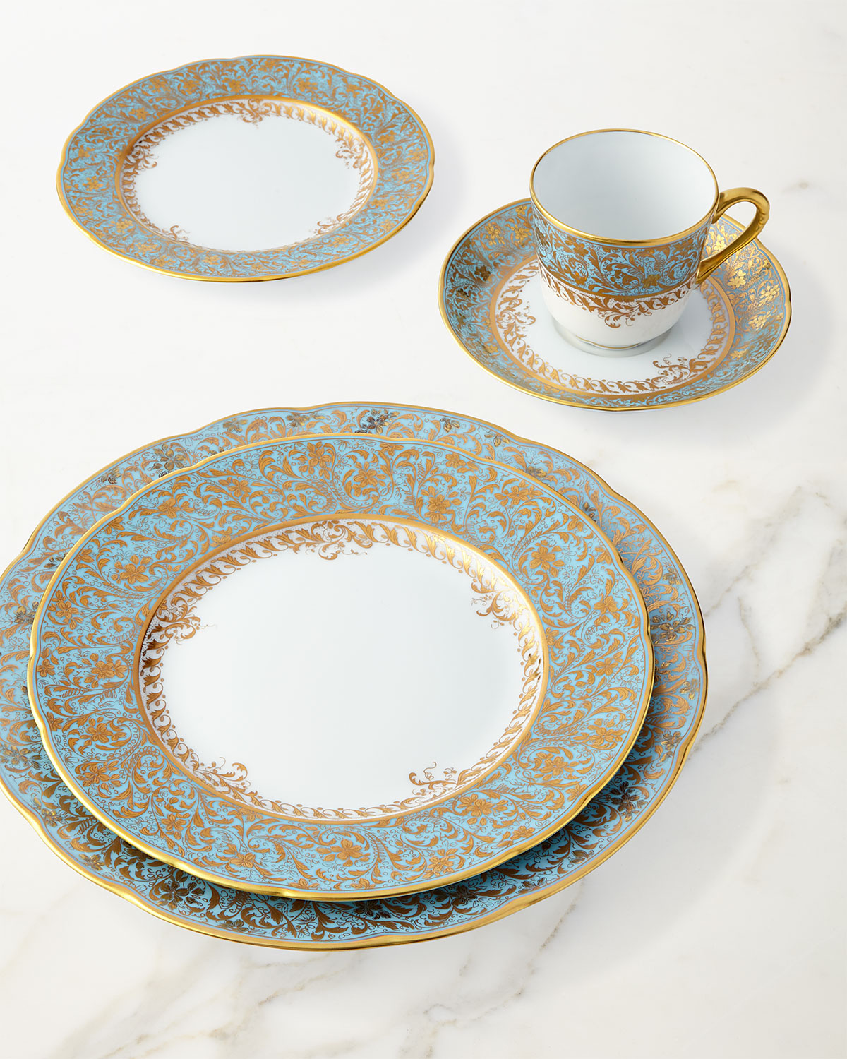 Eden Turquoise Coffee Saucer