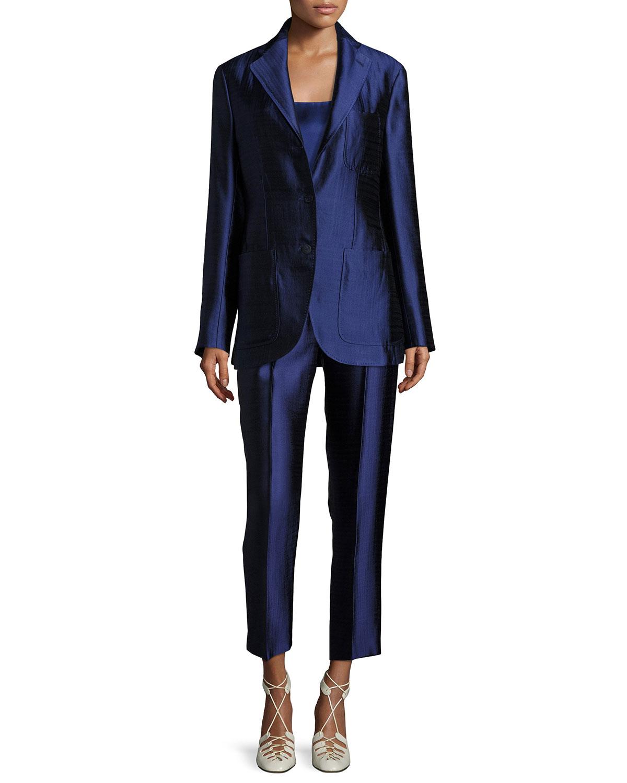 Posner Three-Button Blazer Jacket