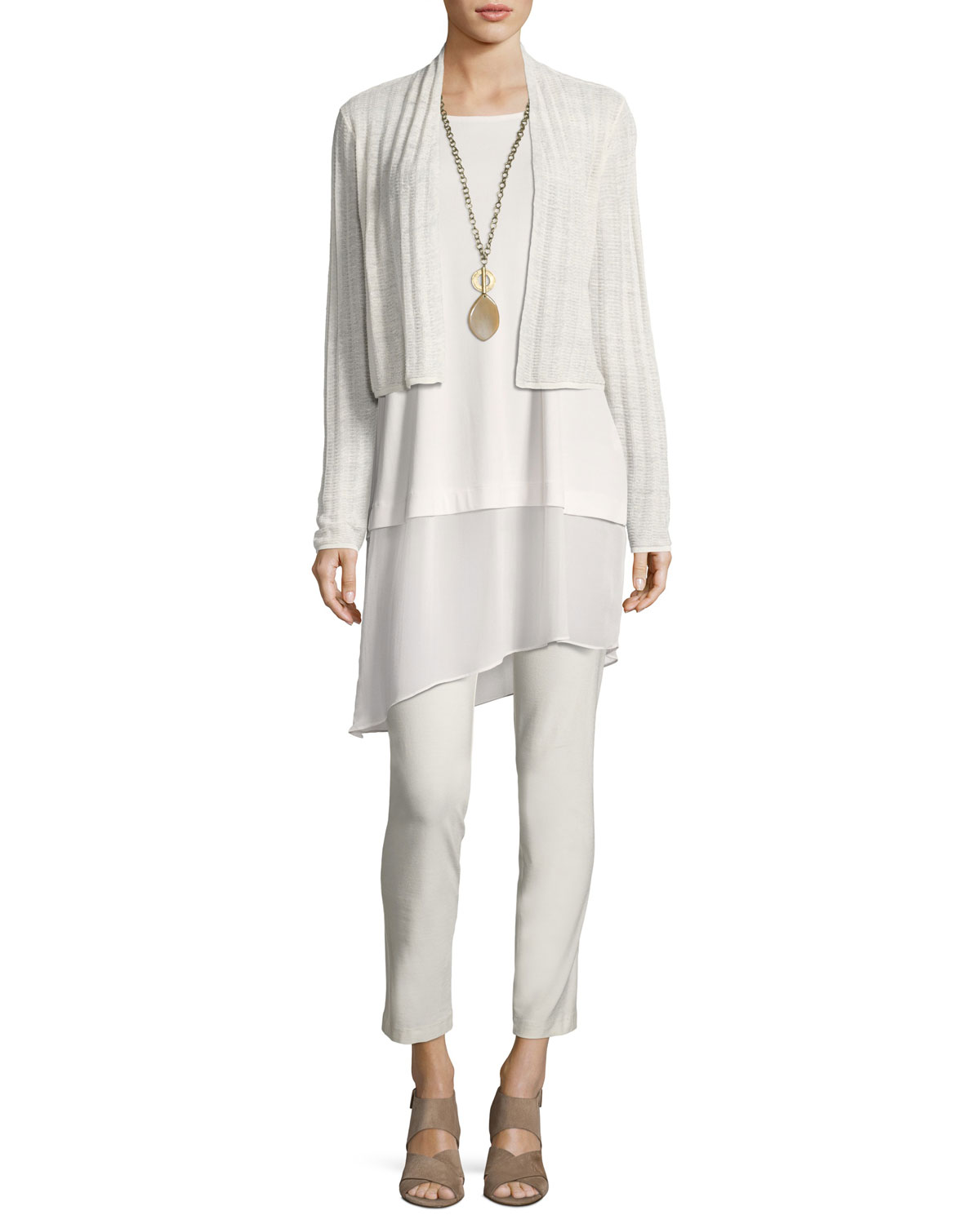 Stretch Silk Jersey Tunic