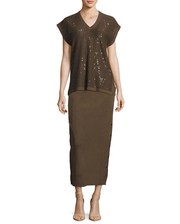 Knit Midi Skirt, Hazel