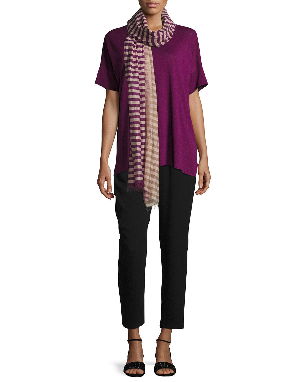Fine Silk/Linen Round-Neck Tunic