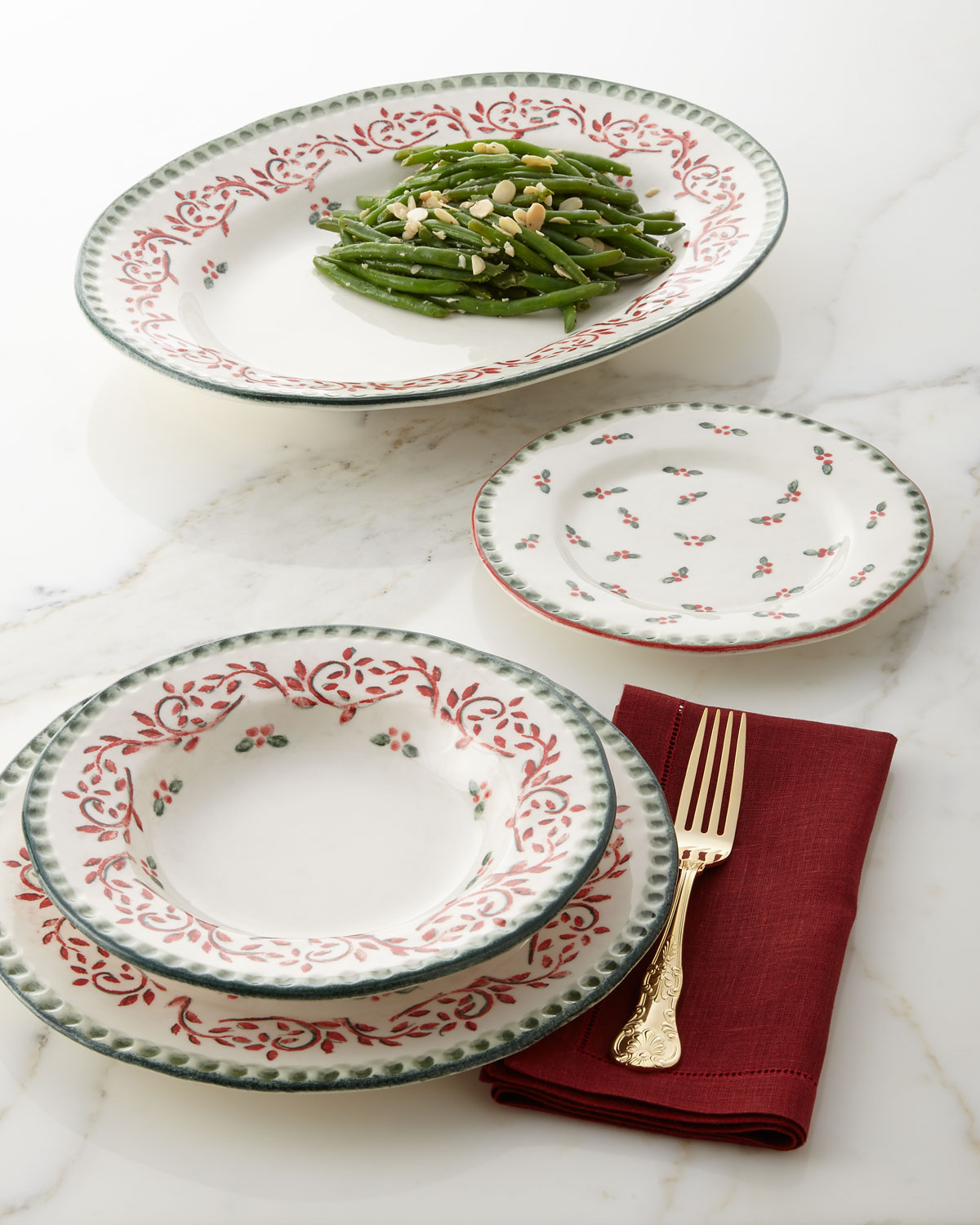 Vietri Limited Edition Old Saint Nick Salad Plate | Neiman Marcus