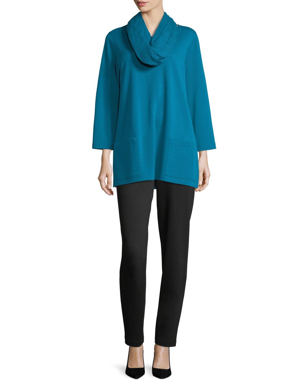 Ponte Slim Pants, Black, Plus Size