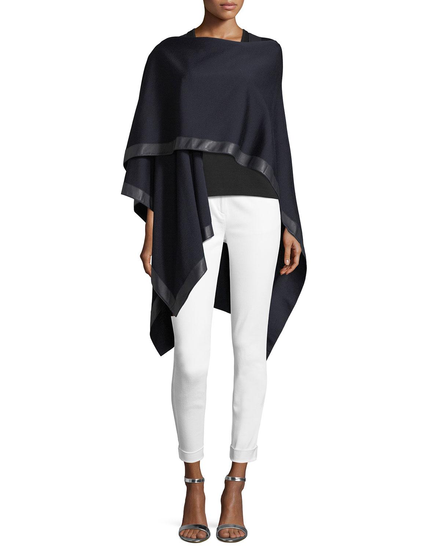 Leather-Trim Milano Wrap