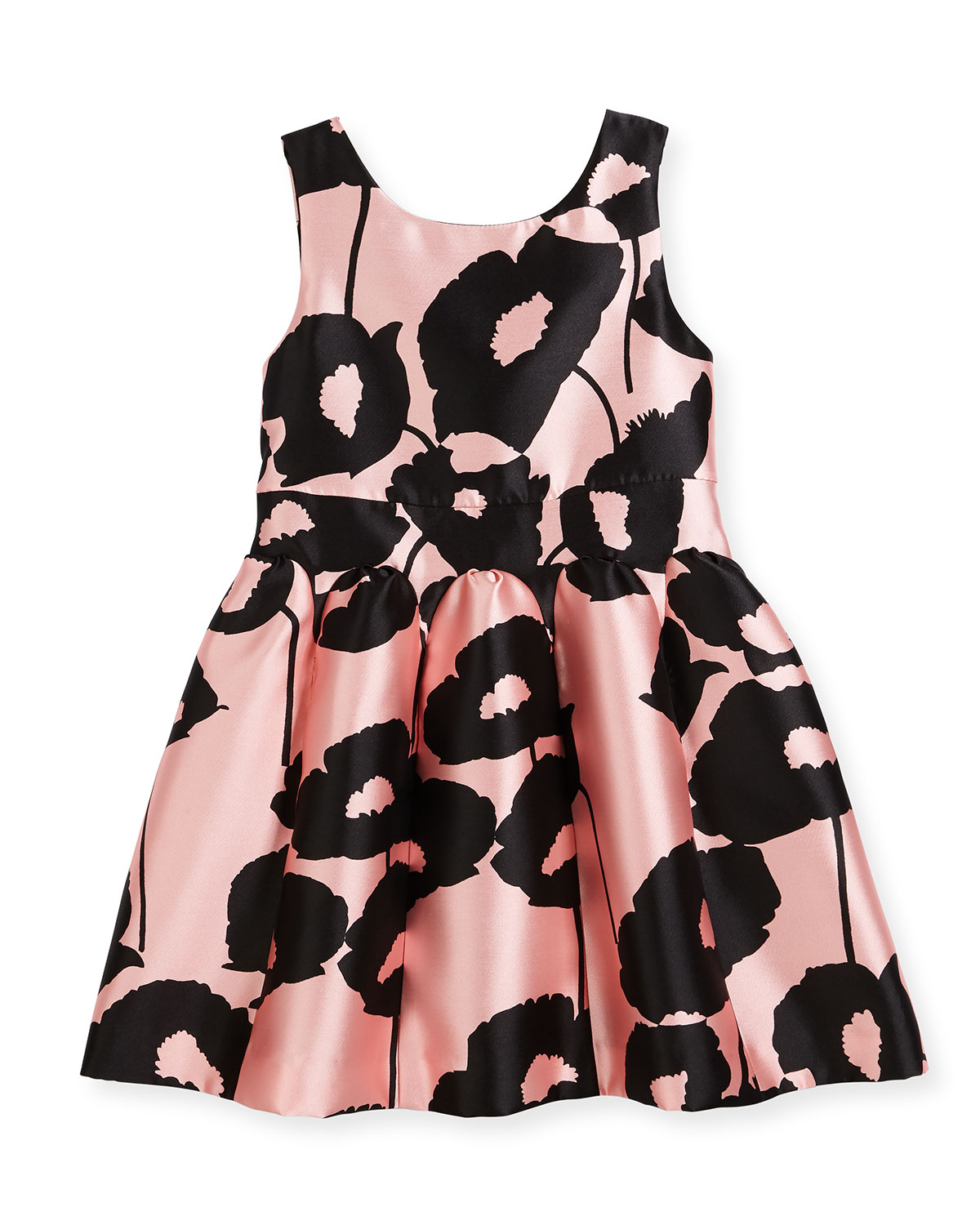 Poppy Floral-Print Party Dress, Size 8-16