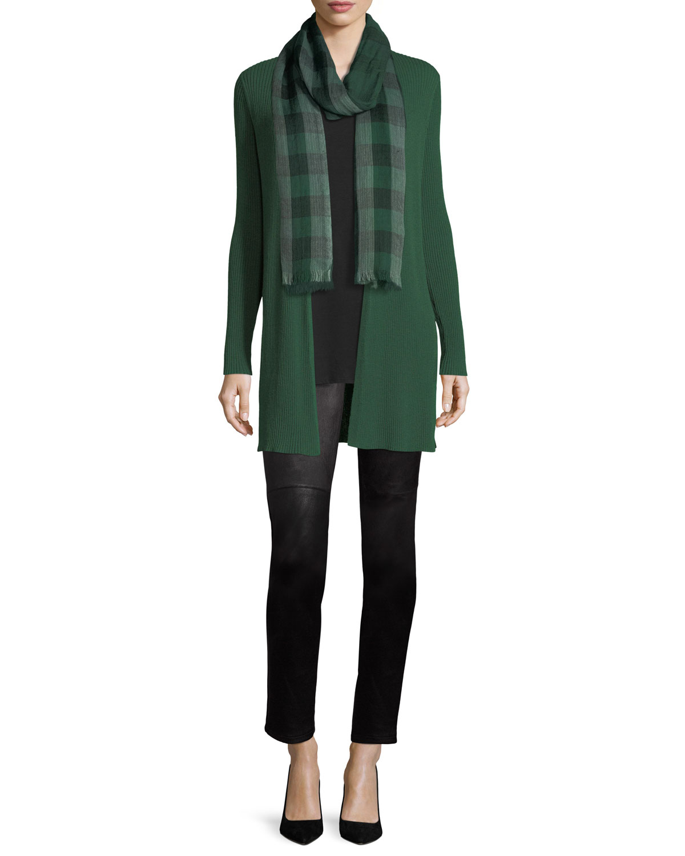 Long Silk Jersey Tunic, Petite