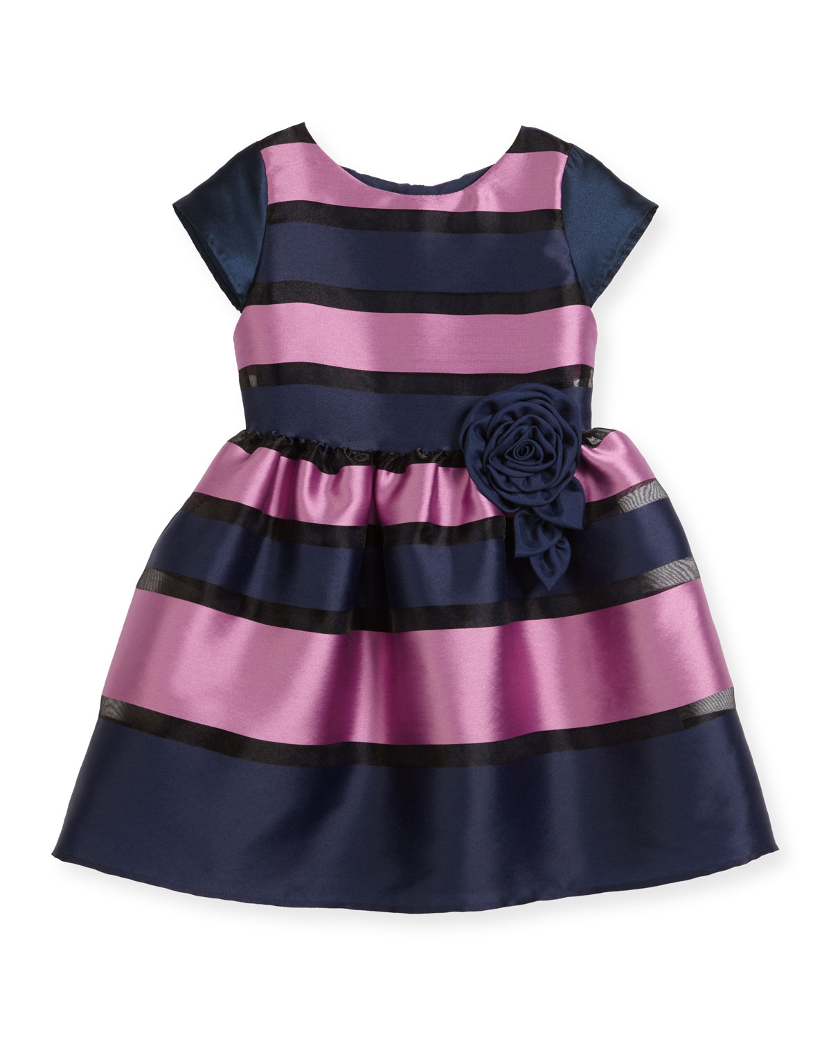 Daria Broad Striped Party Dress, Size 10-14
