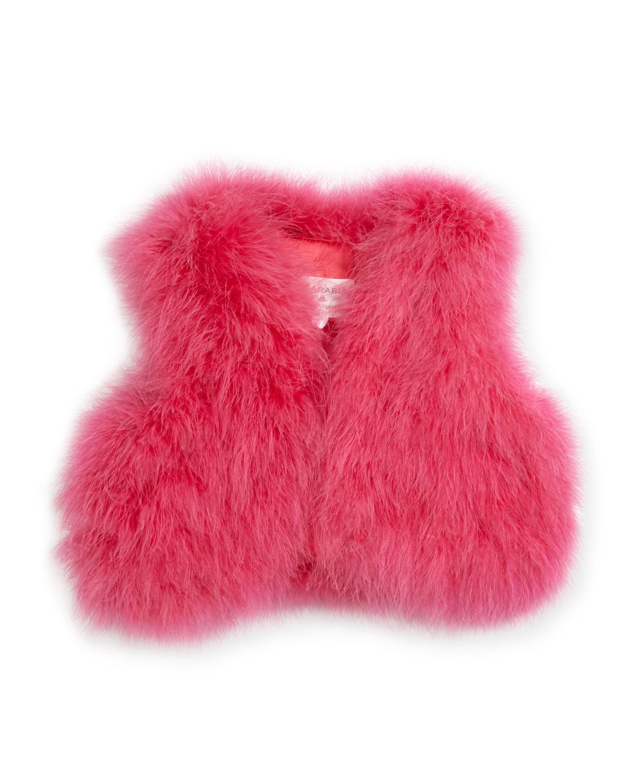 Sleeveless Feather Vest, Size 2-4