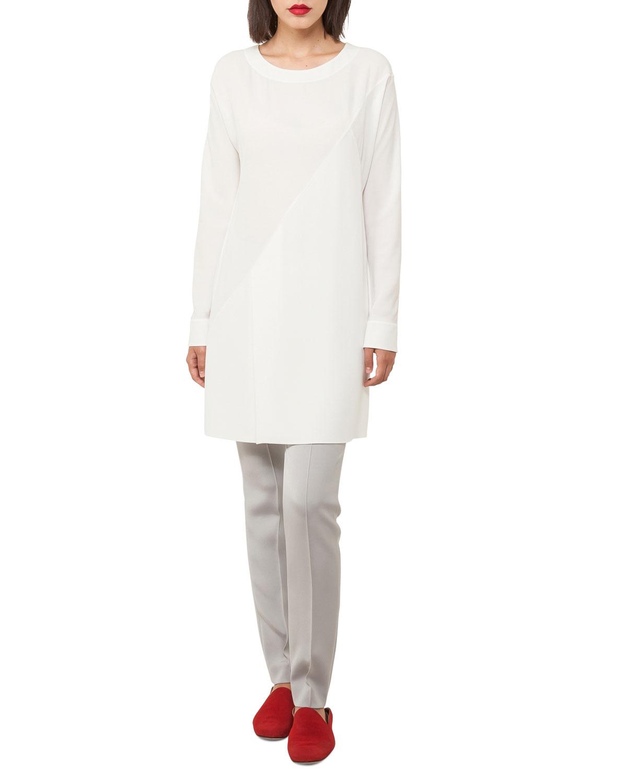 Melissa Slim-Leg Silk Crepe Pants
