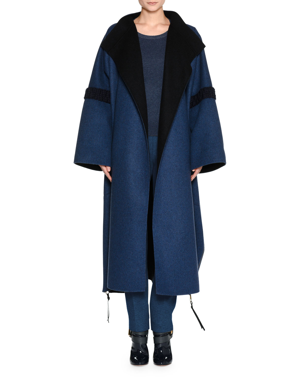 Bicolor Double-Face Cashmere Coat