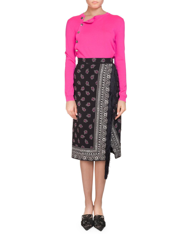 Jude Floral Bandana Wrap Skirt