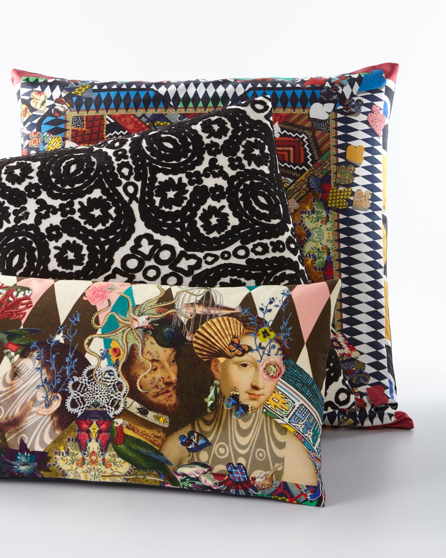 """Le Curieux Argile Pillow, 24"""" x 12"""""""