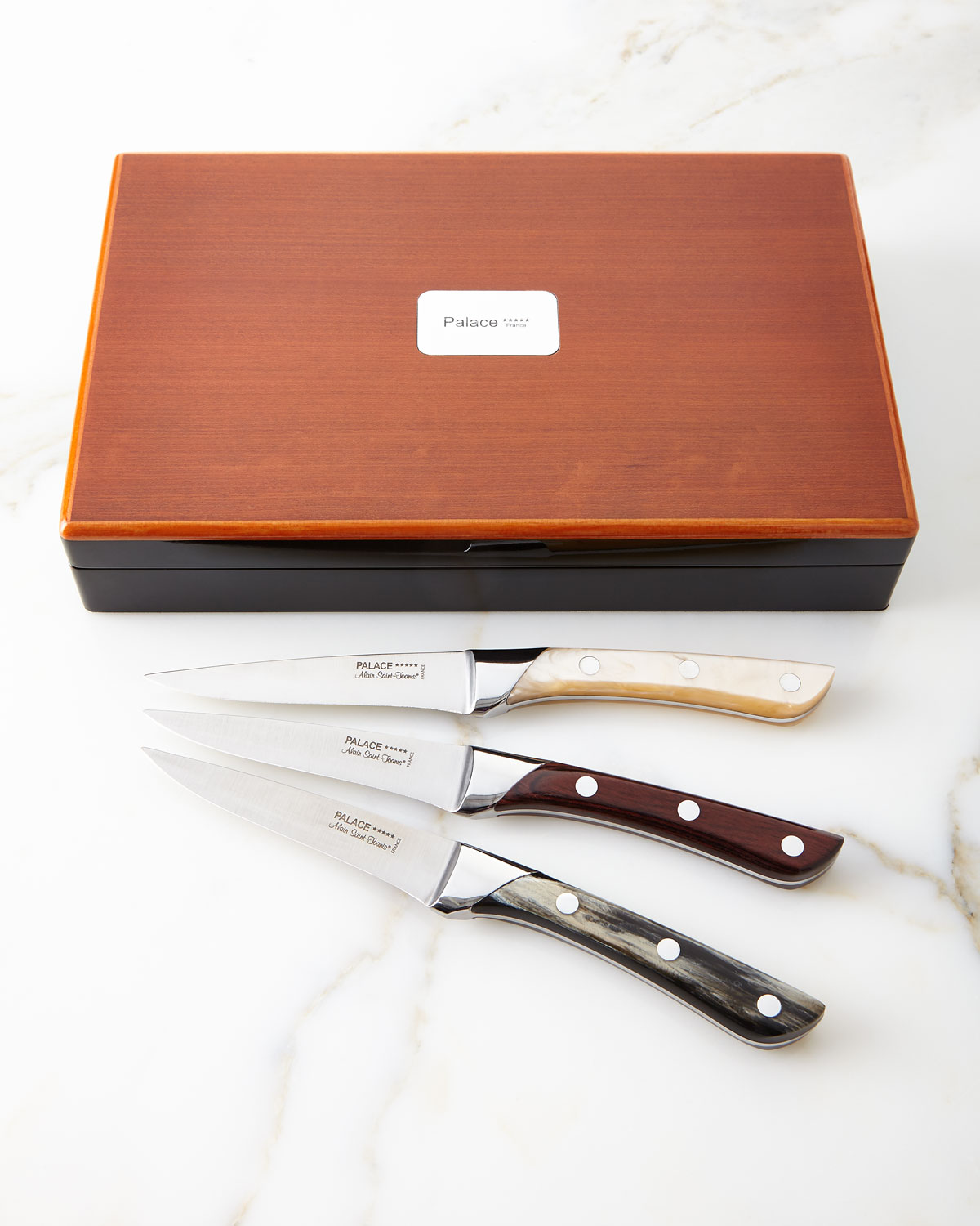 Mother-of-Pearl Steak Knives, Set of 6