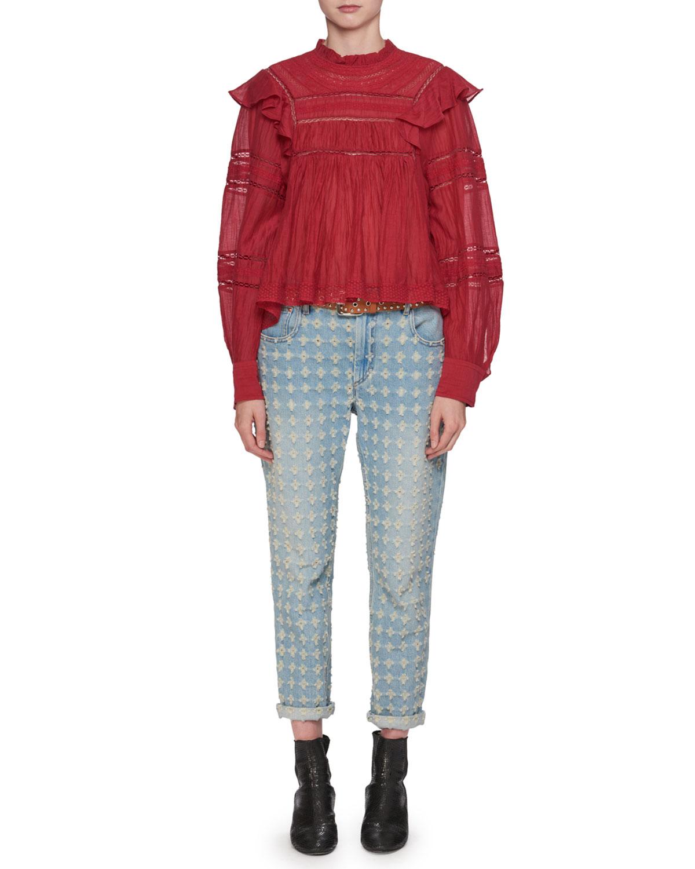 Corliff Girlfriend Straight-Leg Jeans