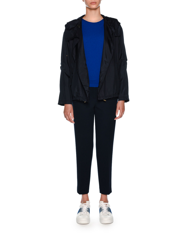 Technical Silk Hooded Jacket