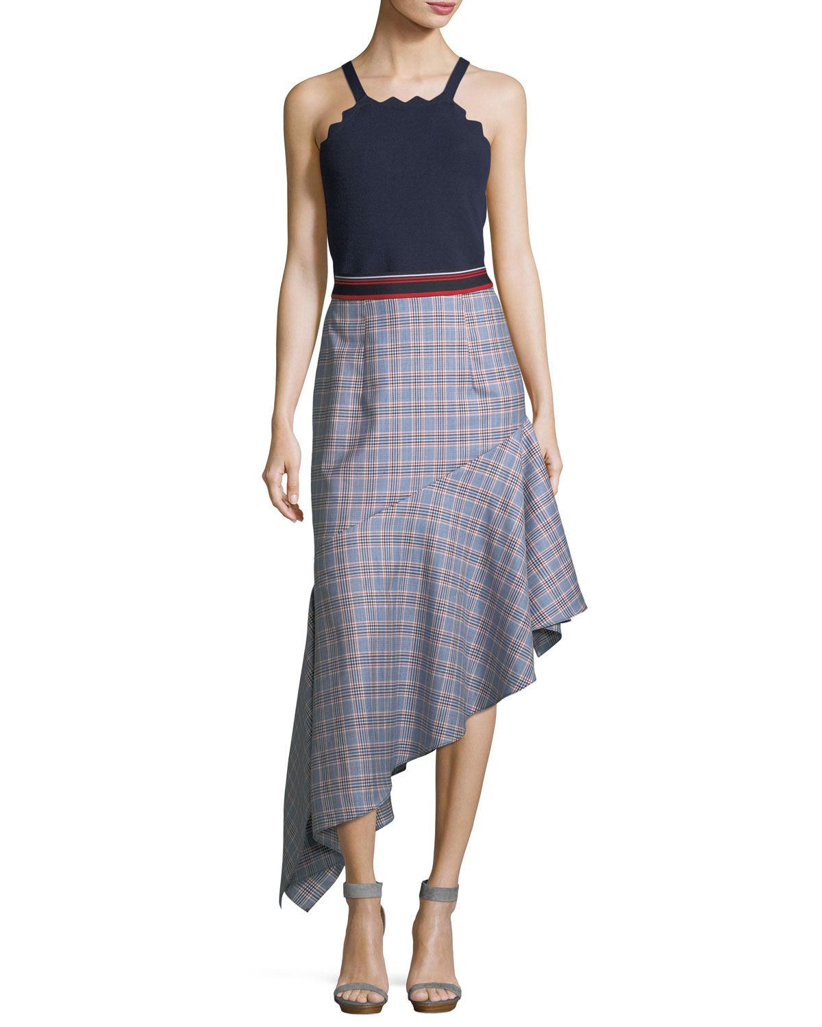 Charlotte Check Suiting Skirt