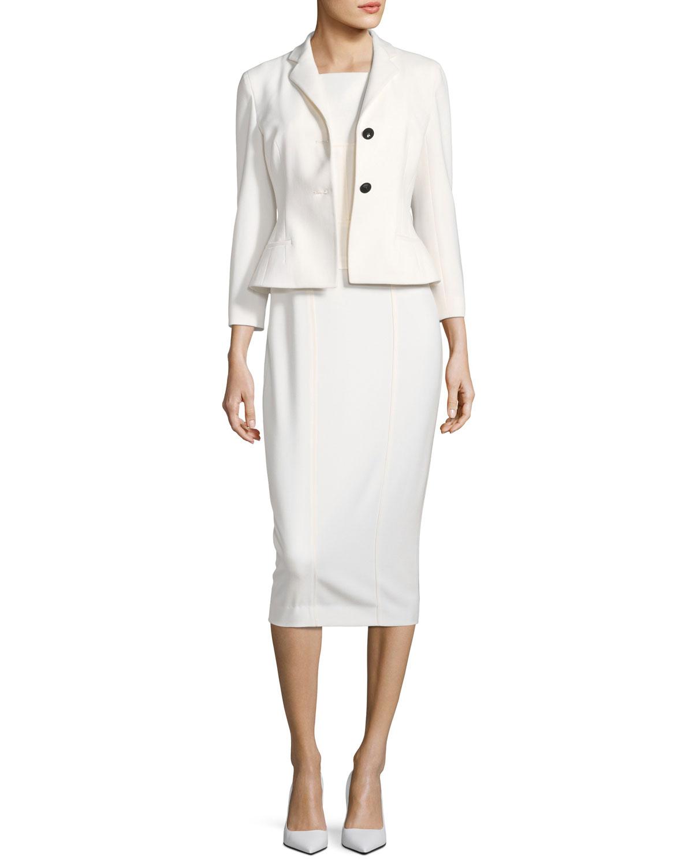Bracelet-Sleeve Two-Button Short Wool Jacket