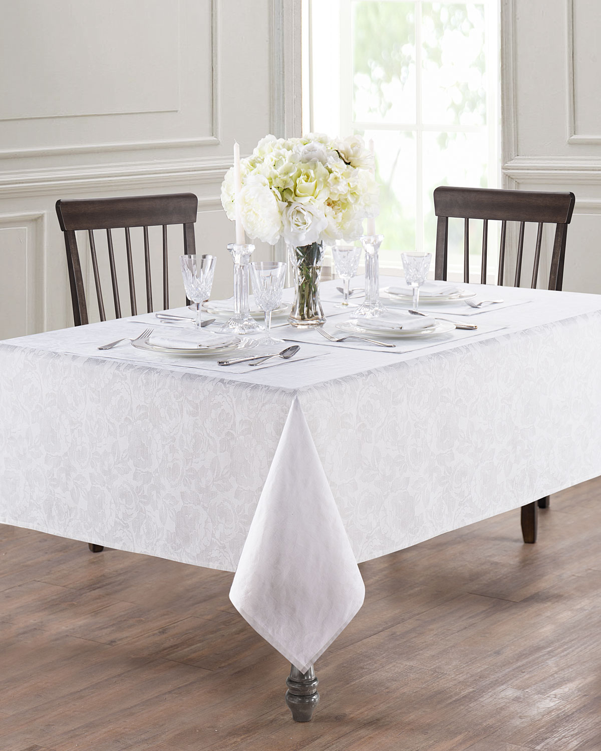 """Camille Round Tablecloth, 90"""""""