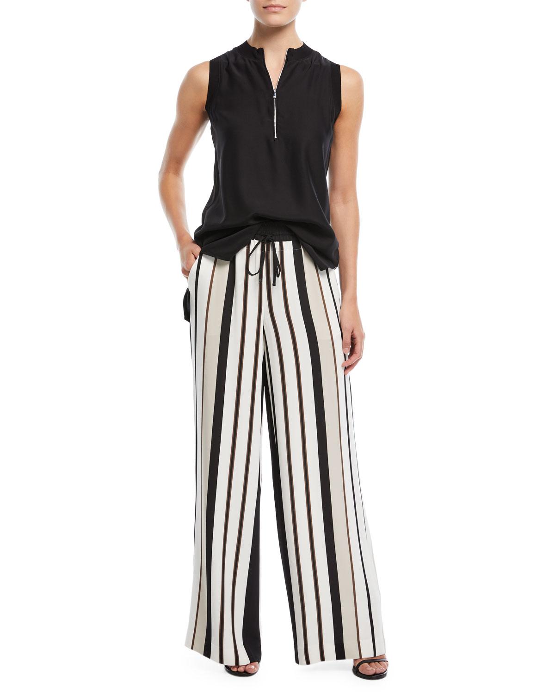 Allen Legacy Striped Drape Cloth Pants