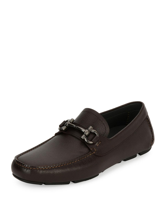 Reversible Leather Double-Gancio Belt