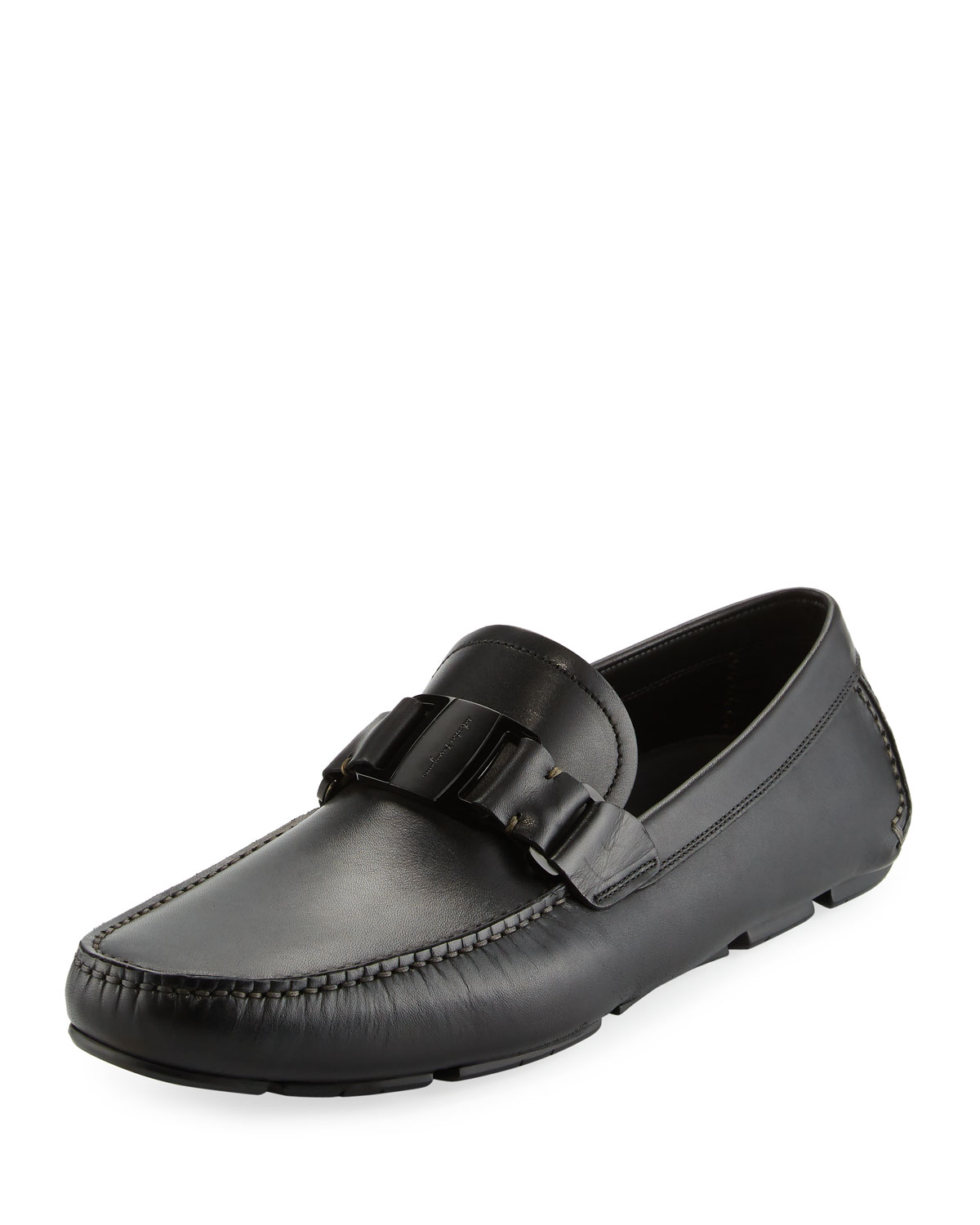 Leather Driver, Black