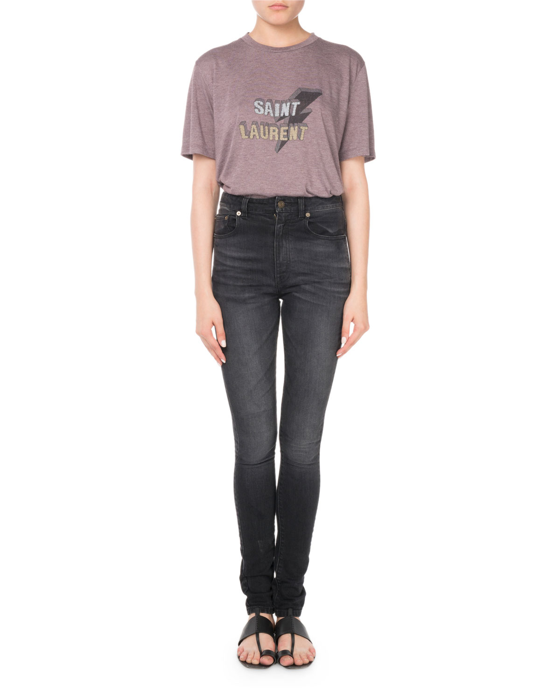 High-Waist Skinny-Leg Jeans
