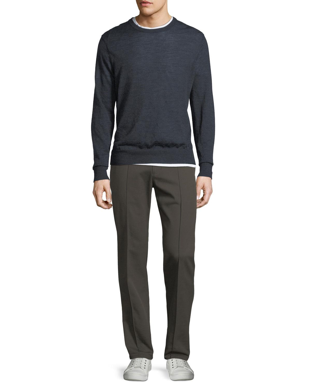 Wool Striped Crewneck Sweater
