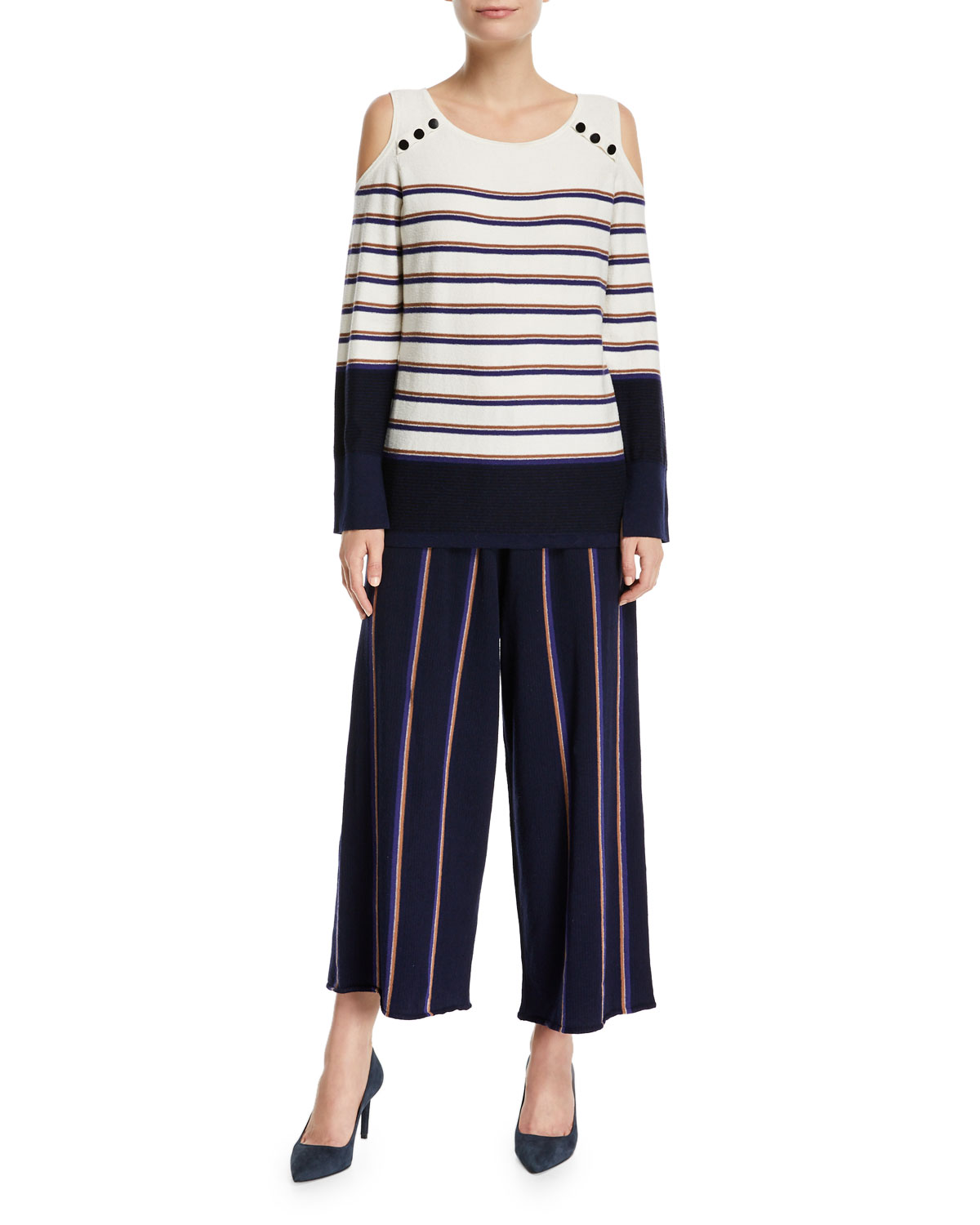 Spring Ahead Striped Top, Plus Size