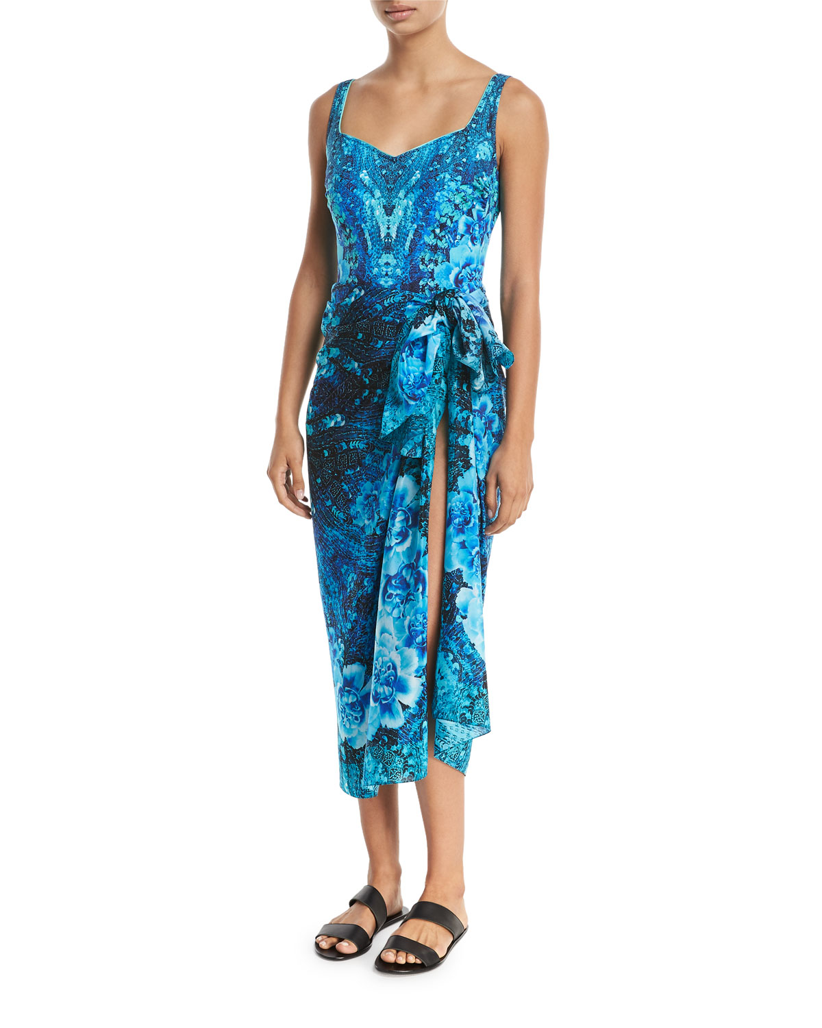 Emerald Isle Silk Pareo Coverup, One Size