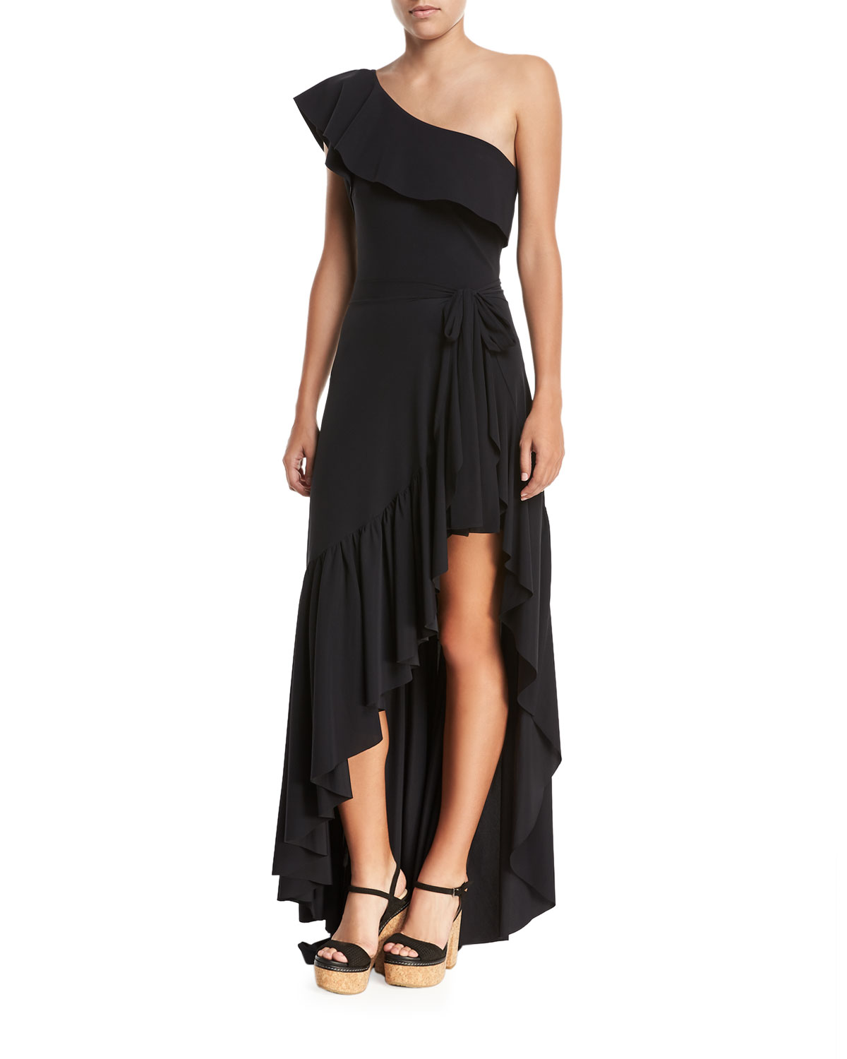 Eli One-Shoulder Solid One-Piece Swimsuit