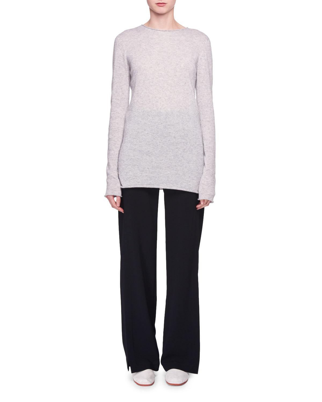 Nolita Crewneck Long-Sleeve Cashmere-Silk Sweater