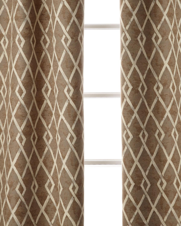 "Argyle Curtain, 108""L"