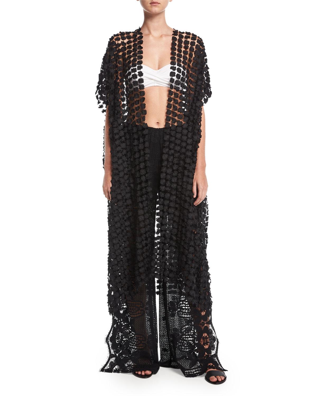 Priscilla Lace Kimono Coverup