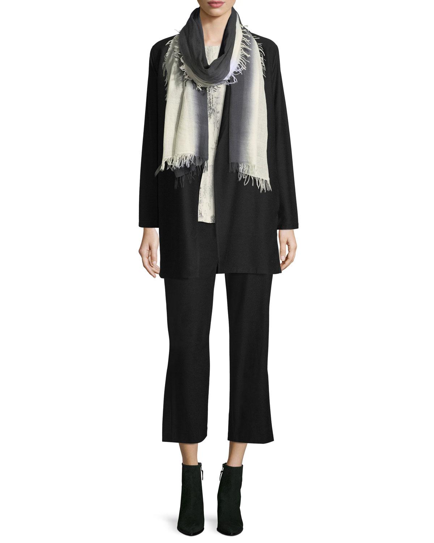 Shawl-Collar Long Jacket