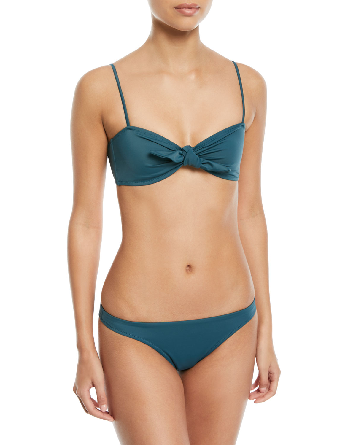 St. Lucia Low-Rise Solid Swim Bottoms