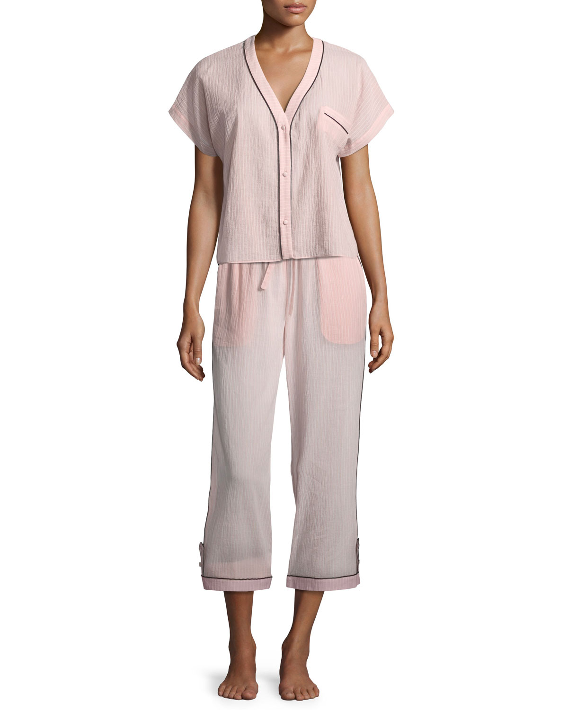 Joana Pinstriped Pajama Top
