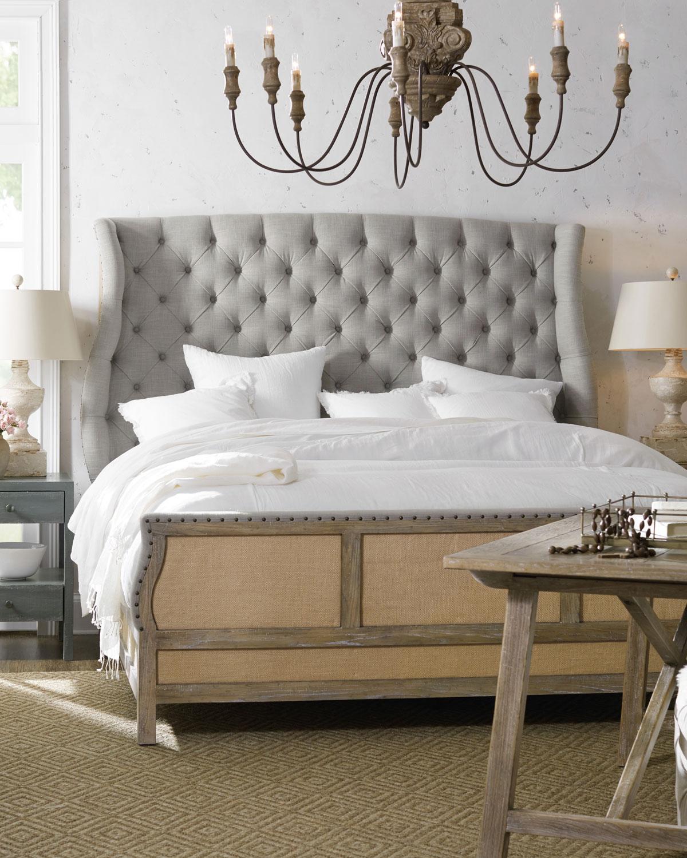 Jacie King Tufted Shelter Bed