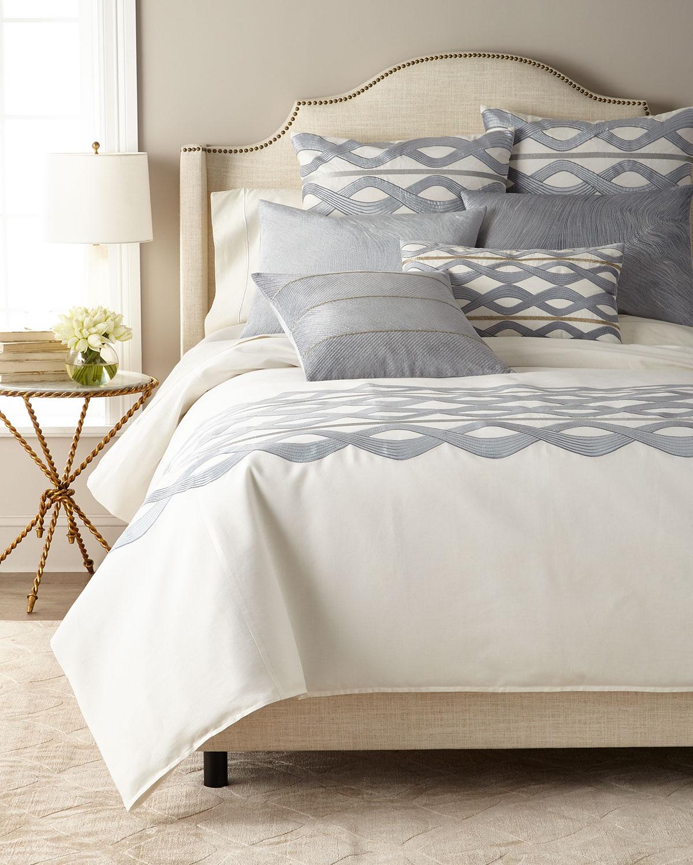 Linen-Blend Decorative Pillow