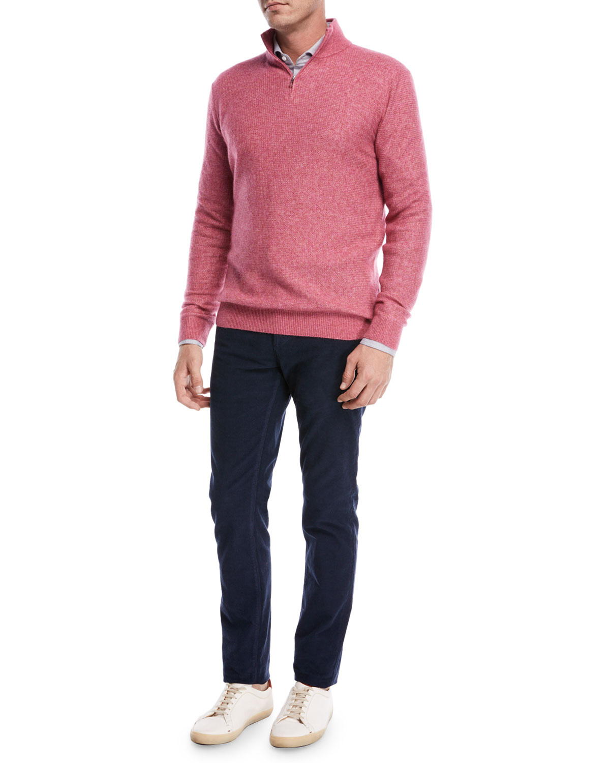 Cashmere-Silk Quarter-Zip Sweatshirt
