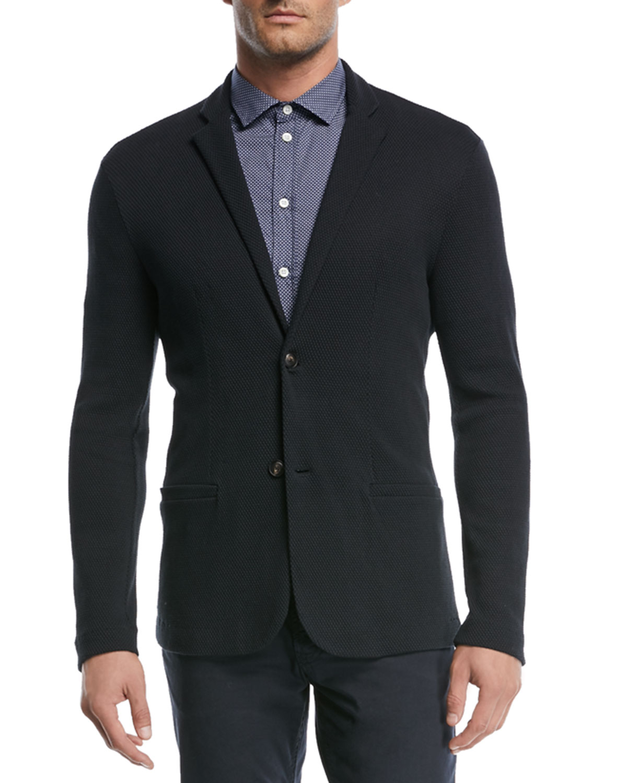 Micro-Pattern Short-Sleeve Sport Shirt