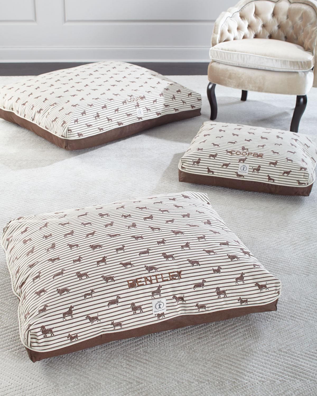 Medium Ticking Envelope Dog Bed