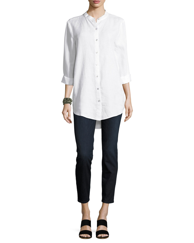 Organic Cotton Soft Stretch-Denim Leggings, Plus Size