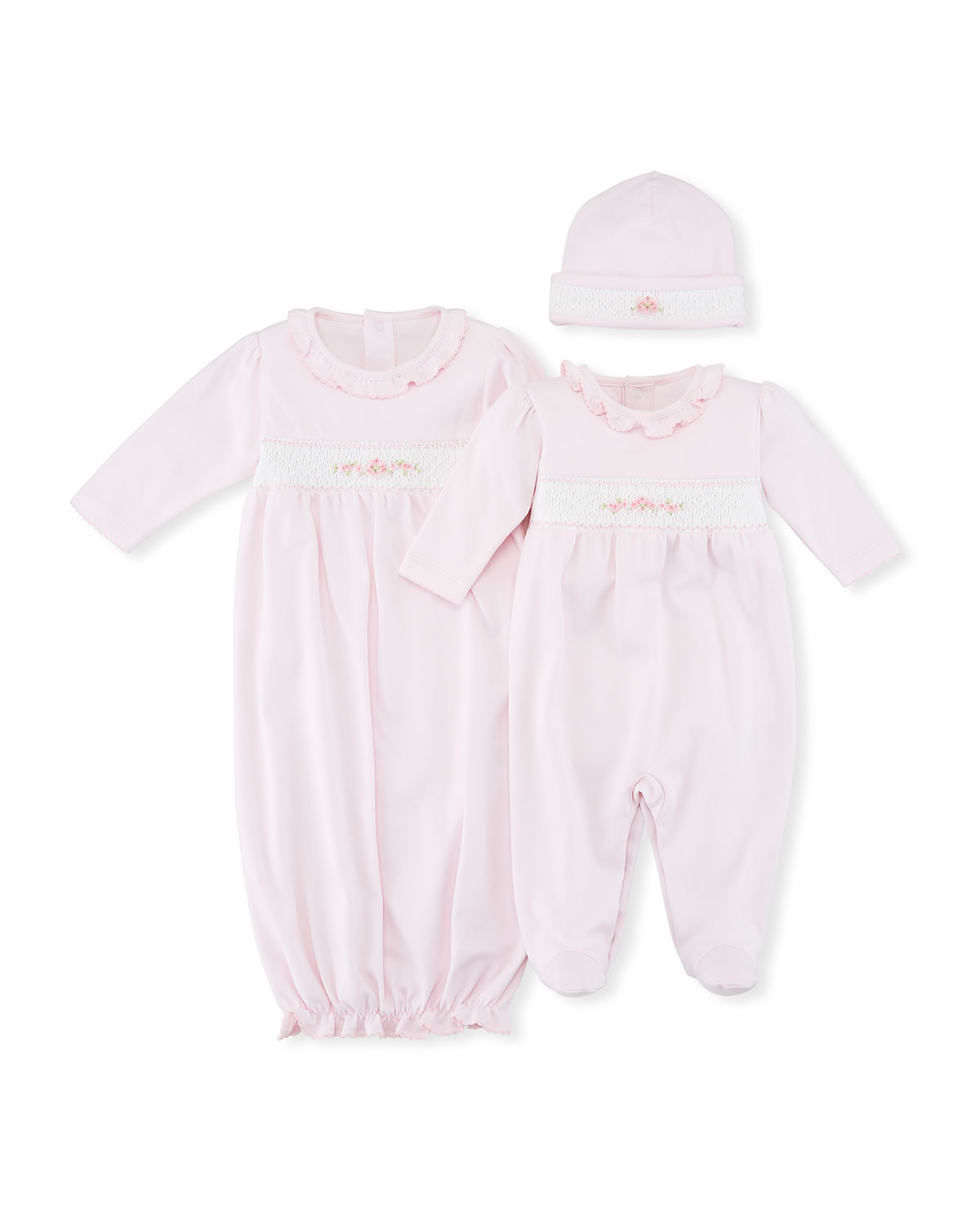 CLB Summer Medley Smocked Footie Playsuit, Size Newborn-9M