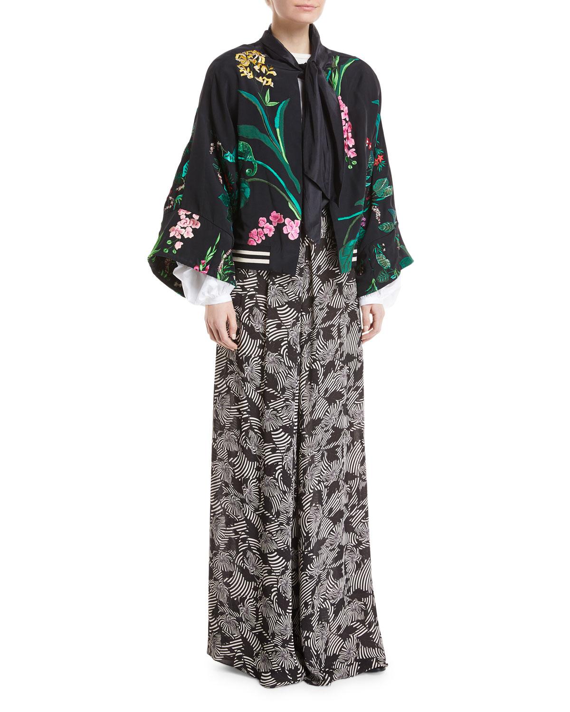 Carmen Marc Valvo Sleeveless Crepe Peplum Gown, Midnight | Neiman Marcus